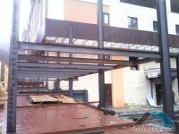 Выявление возможности и проект размещения помещения кафе в существующем здании автопаркинга с пристроем открытой террасы
